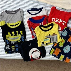 5t pajama shirts and one pair of pants